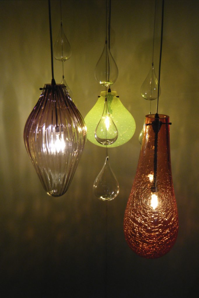 Blown Glass Residential Lighting