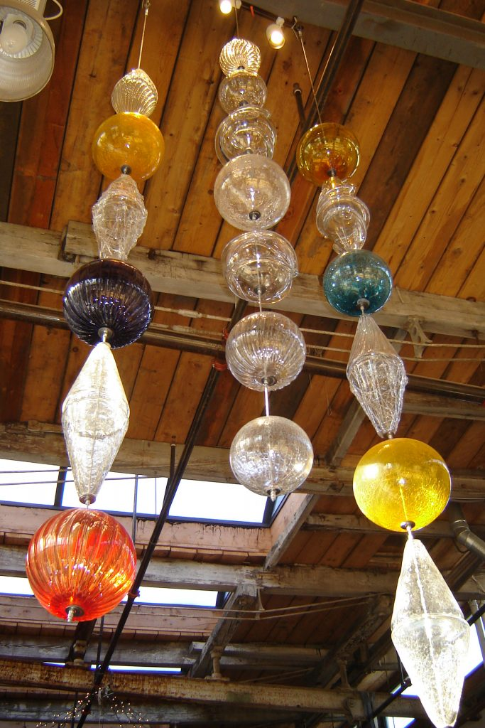 Glass Bead Hanging Sculpture