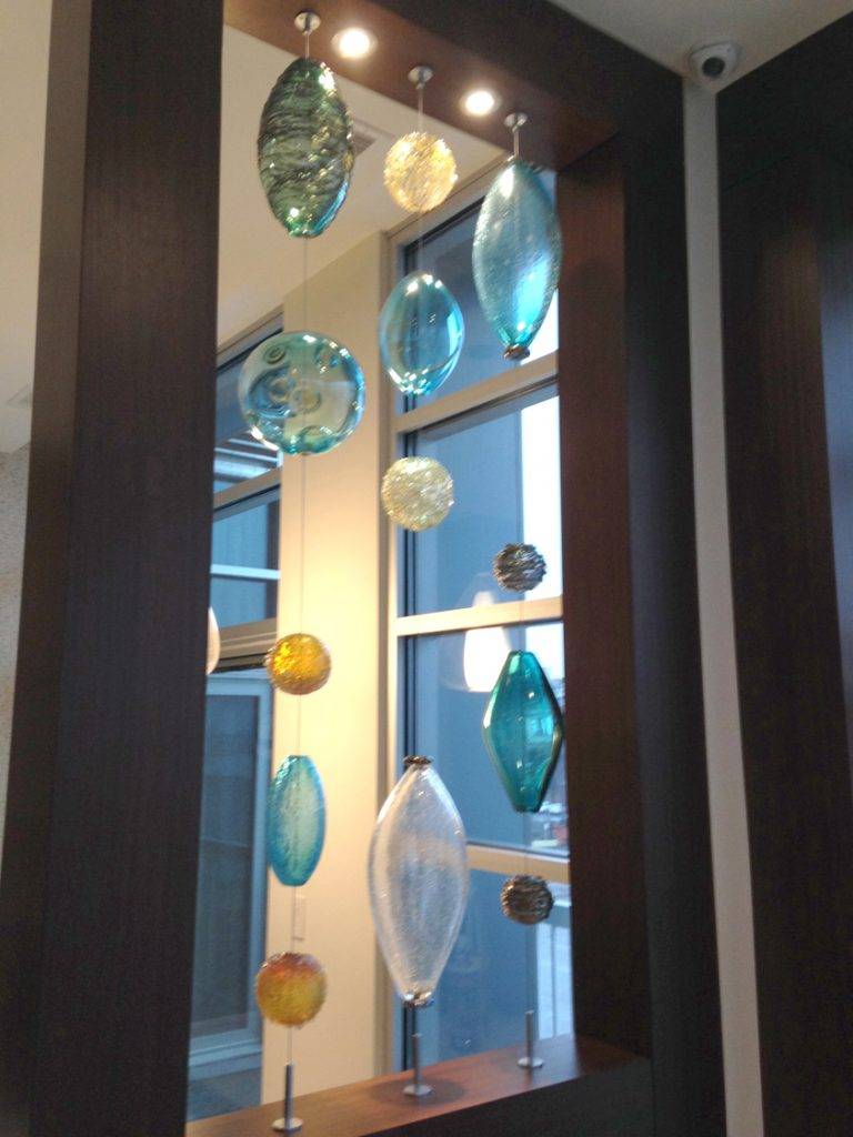 Glass Hanging Bead Installation