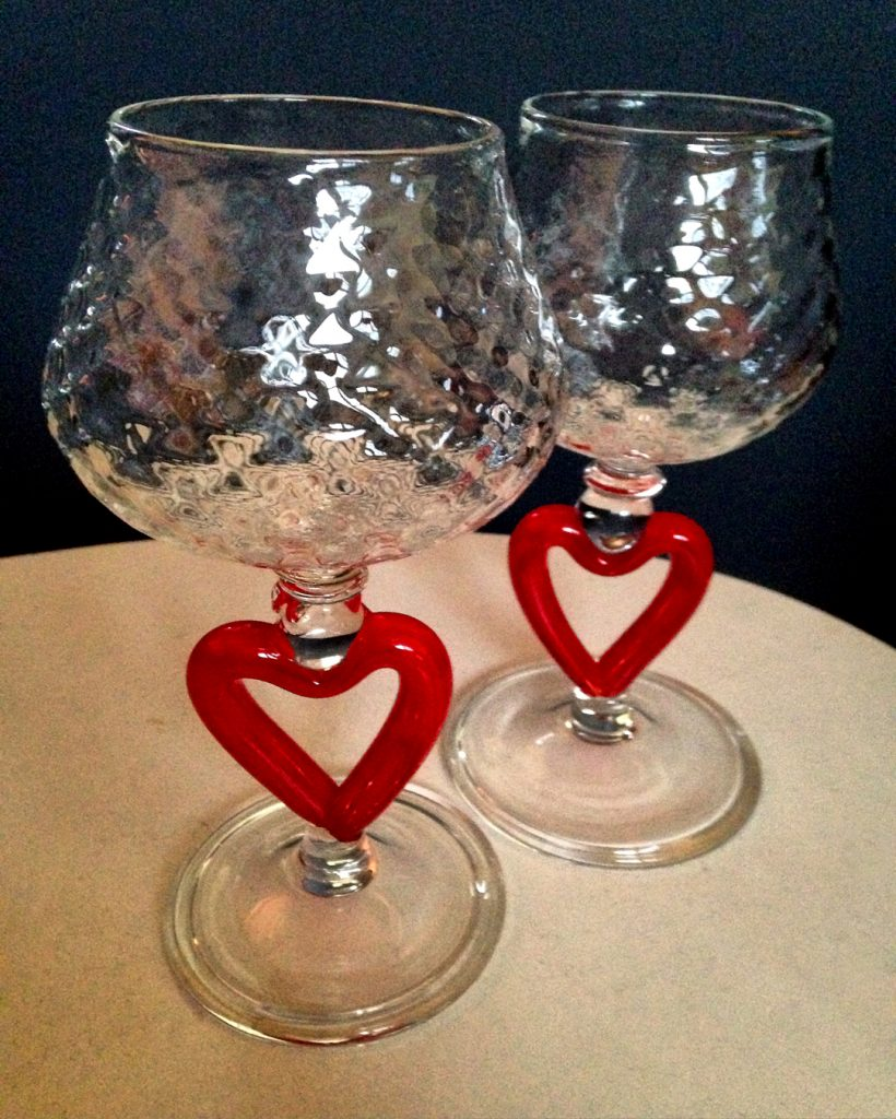 Glass Heart Goblets